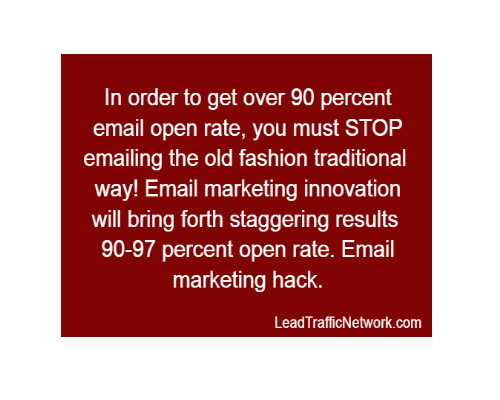 "EMAIL MARKETING HACK | YOU ARE SURE TO BE ""SHOCKED"" TO LEARN HOW TO GET 97% EMAIL OPEN RATE"