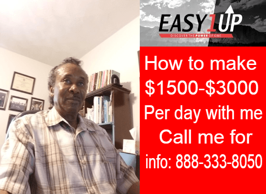 CALL 888-333-8050 JOHNNIE - EASY 1UP - MAKE MONEY FROM HOME 2019