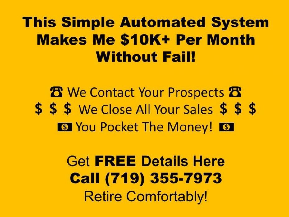 "Call ""Big Rob"" (843) 564-8875 – Work From Home Business Success"