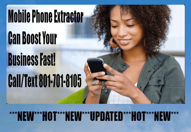 ***NEW*** Cell Phone Extractor | Mobile Phone Extractor | SMS Marketing Tools