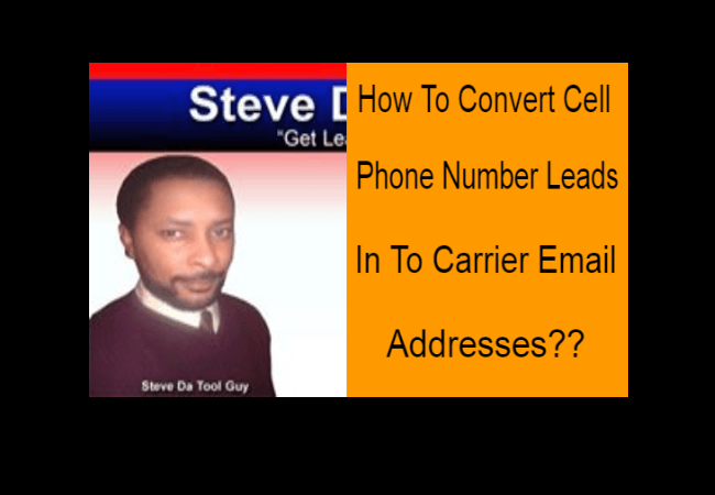 How To Convert Cell Phone Leads To Carrier Email Addresses | Free Cell Phone Leads