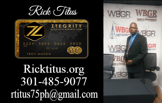 Rick Titus | Call Text 301-485-9077 | ZBlackCard Review | Ztegrity Master Card Review